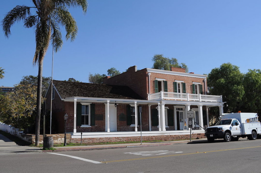 Exterior of Whaley House Museum, Old Town, San Diego, California, USA, built 1856