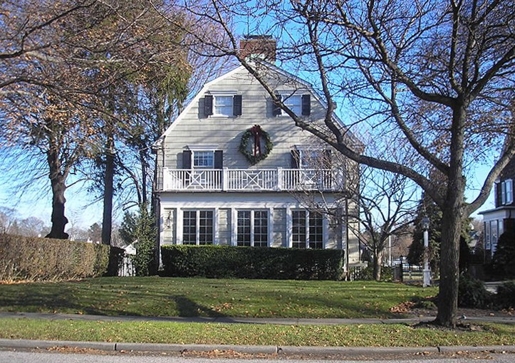 The house featured by the movie The Amityville Horror, built circa 1924, at 112 Ocean Avenue, Amityville, New York, United States. By the time this photograph was taken, the address had been changed to discourage curiousity-seekers.