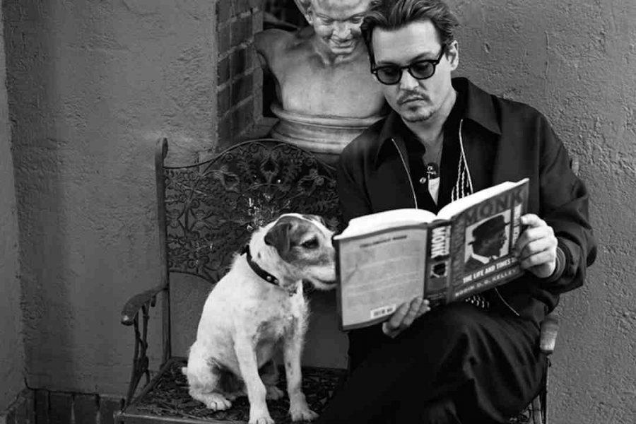 Johnny Depp with dog