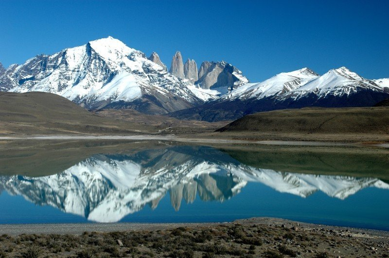 View of Patagonia and glaciers