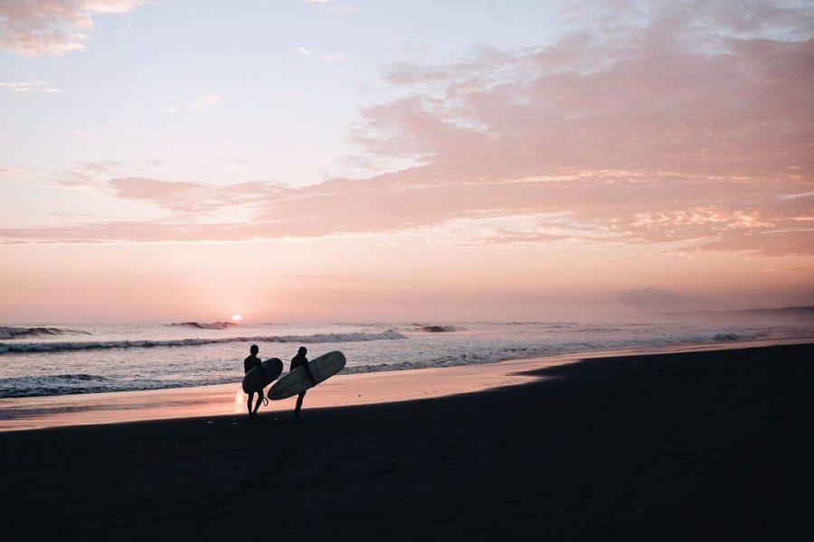 surfers in Peru