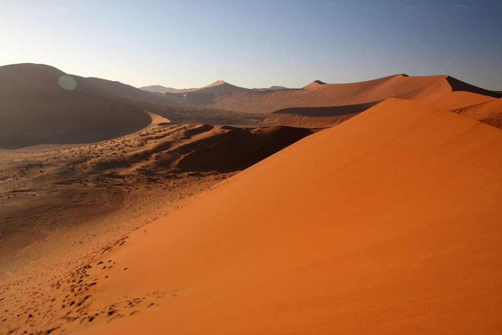 Namibia's red sand Dune 45 in Sossusvlei