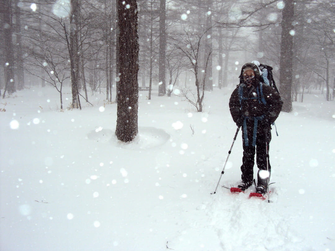 Hiking the Japanese Alps in winter