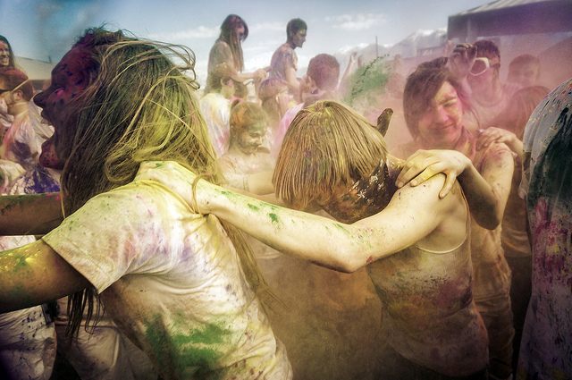 Festival of Colors in Spanish Fork, UT at the Sri Sri Radha Krishna Temple
