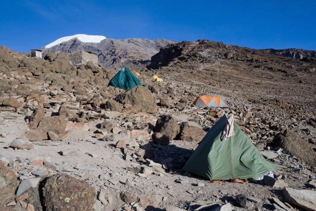 Barafu Huts camp, 4681m above sea level, Kilimanjaro