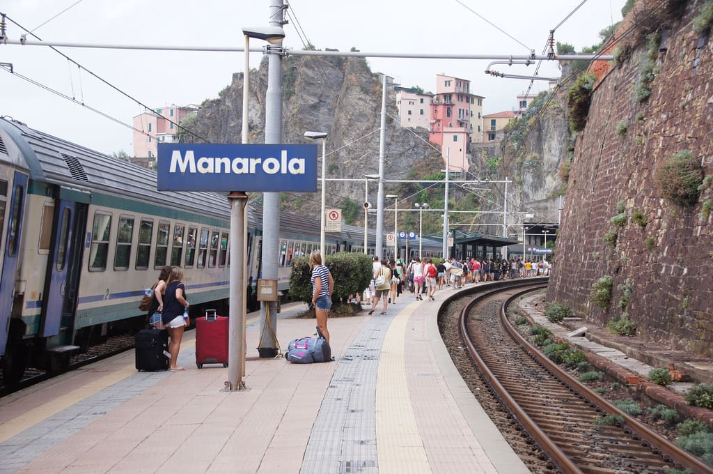 station of manarola, italy