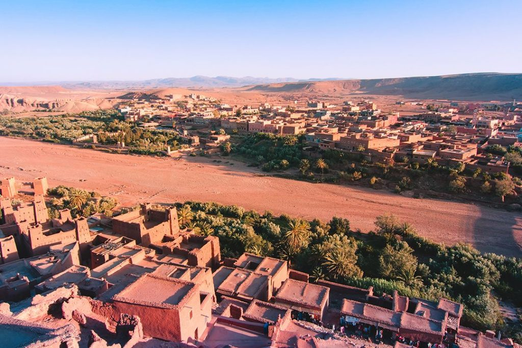 Ait Benhaddou, the most famous ksar in the Ounila Valley and a current UNESCO World Heritage site