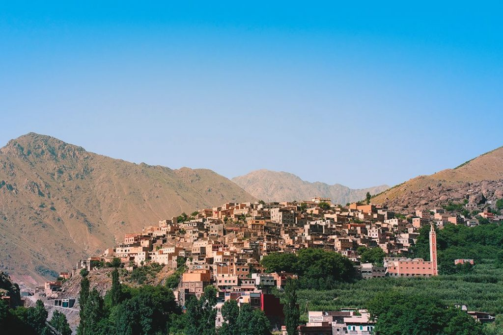 The hilltop town of Aroumd sits in the high Atlas Mountains of Morocco