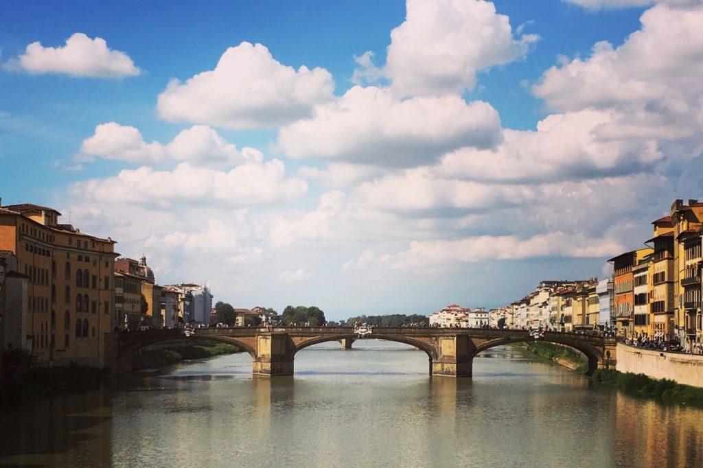 Iconic Ponte Vecchio bridge in Florence