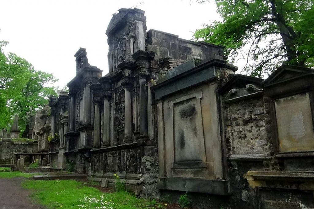 A crumbling building in the haunted Greyfriars Cemetary