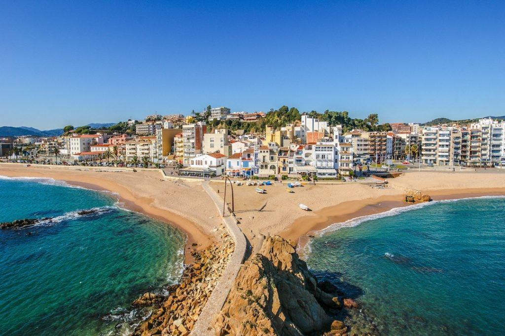 View of the coast in Blanes, Spain