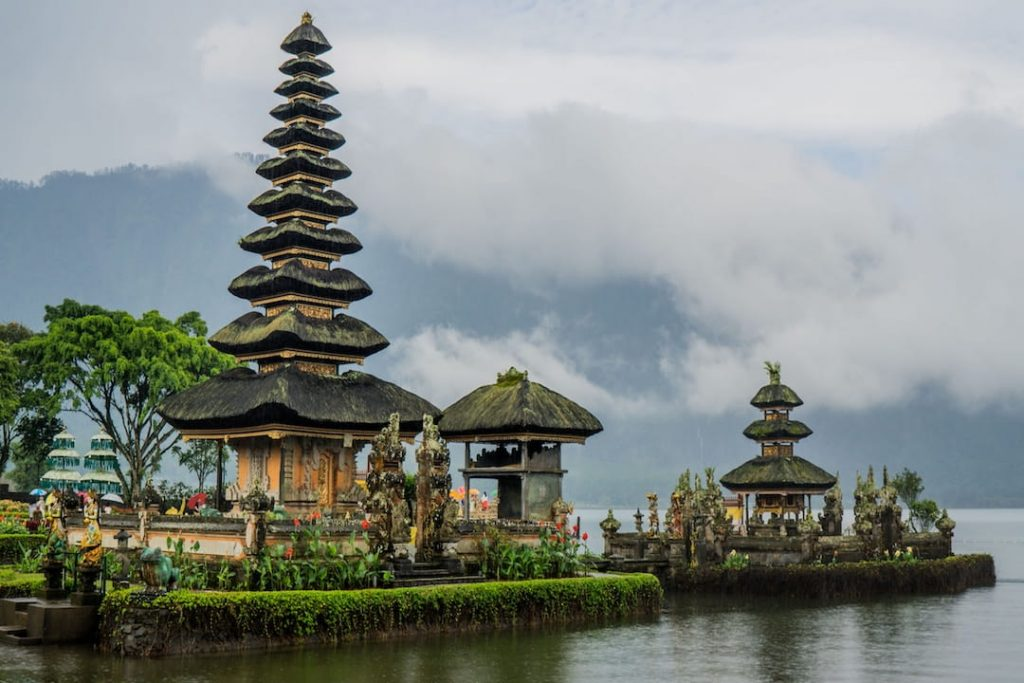 A foggy day at Ulun Danu Beratan Temple in Bali