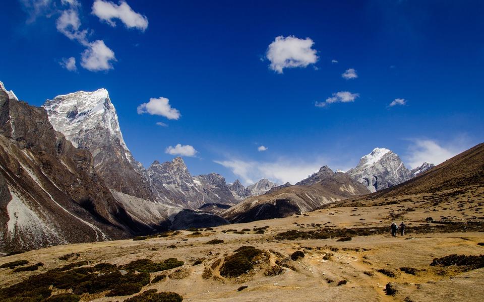 A glimpse of the stunning Nepali Himalayan mountain range