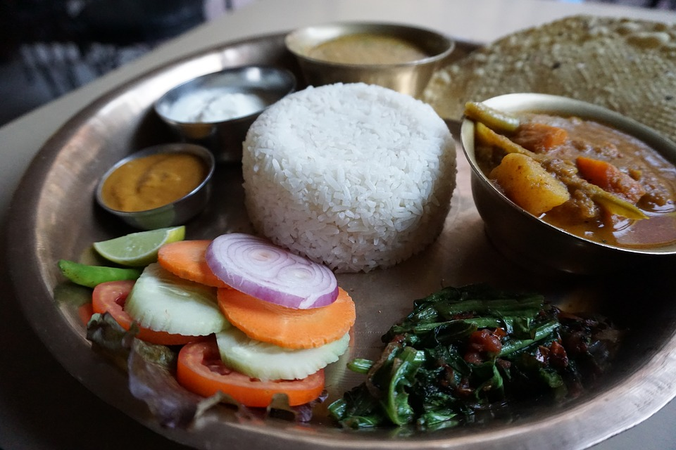 A taal of traditional Nepalese food