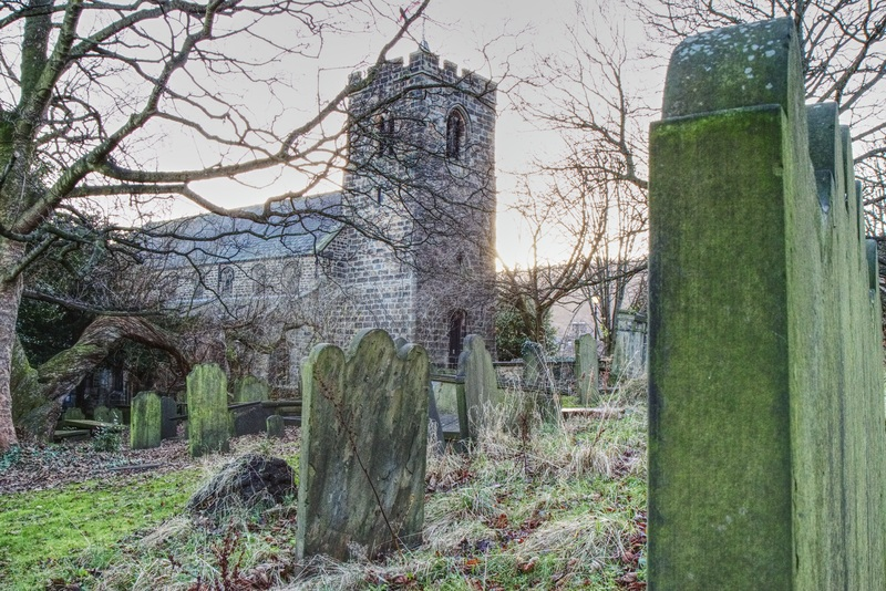 Ghost and Folklore Stories United Kingdom: creepy church and graveyard