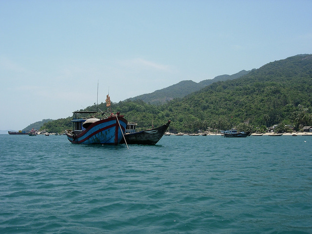Boat off the coast of Hoi An