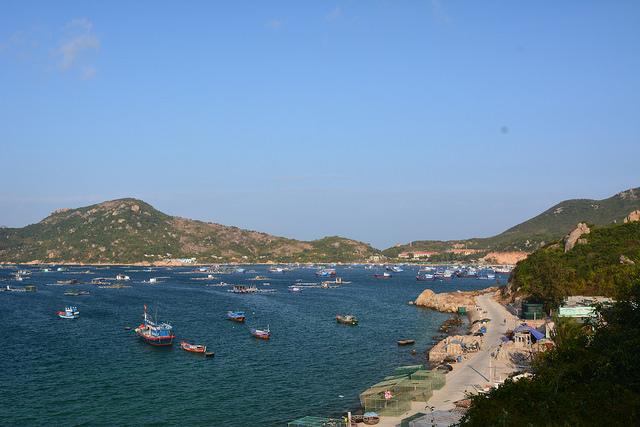 Coastline view of Binh Ba Island
