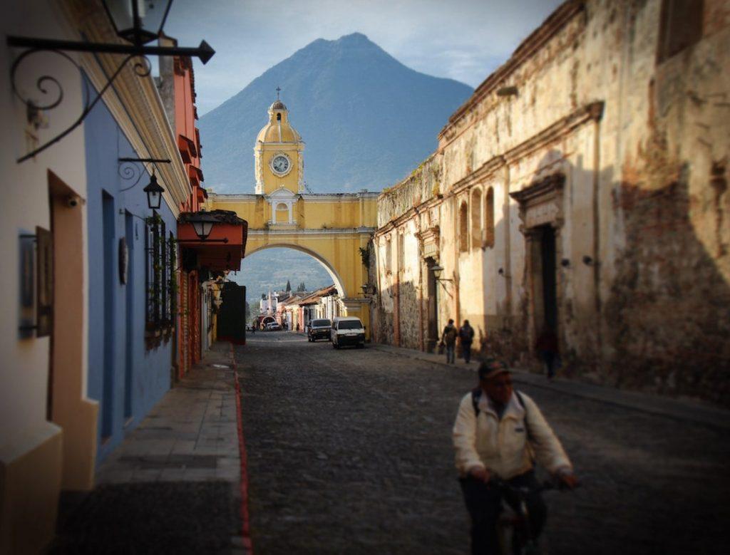 A man riding a bike in Guatemala