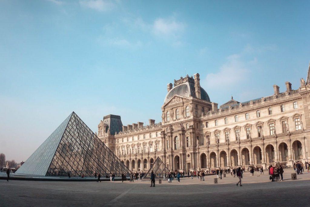 The Louvre Museum in Paris, France