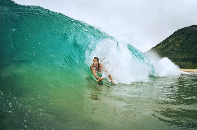 Surfing in Sandy Beach, Honolulu