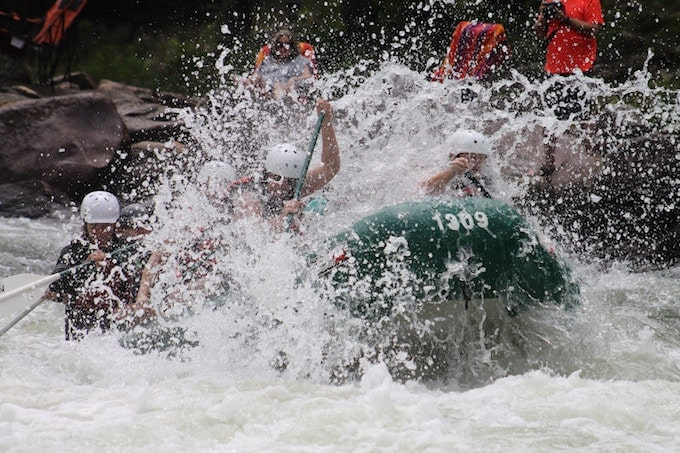 White water rafting in Ocoee, US