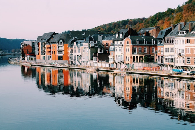 By the water in Dinant, Belgium
