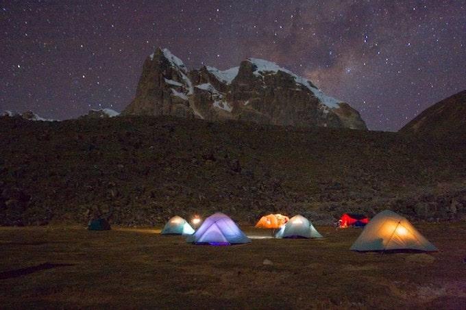 colourful tents in Peru