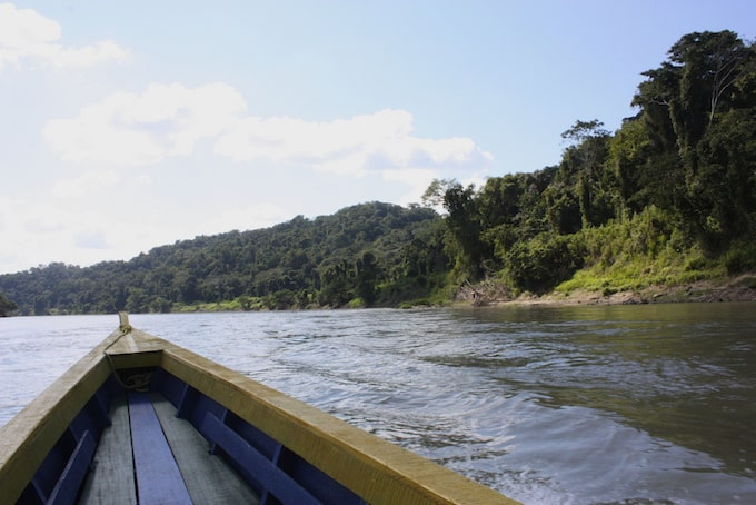 the view from a boat in corozal, belize