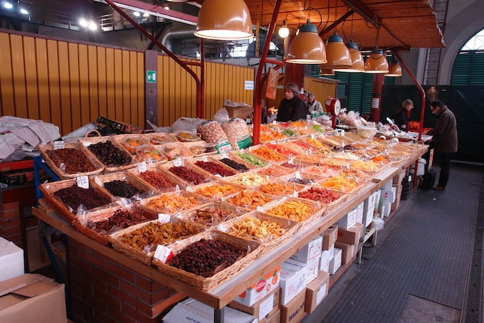 A food stall in the Florence food market
