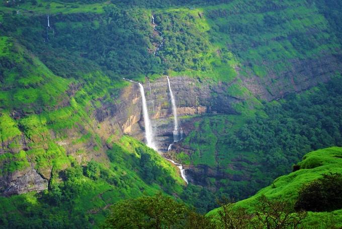 A waterfall in Rajmachi, India
