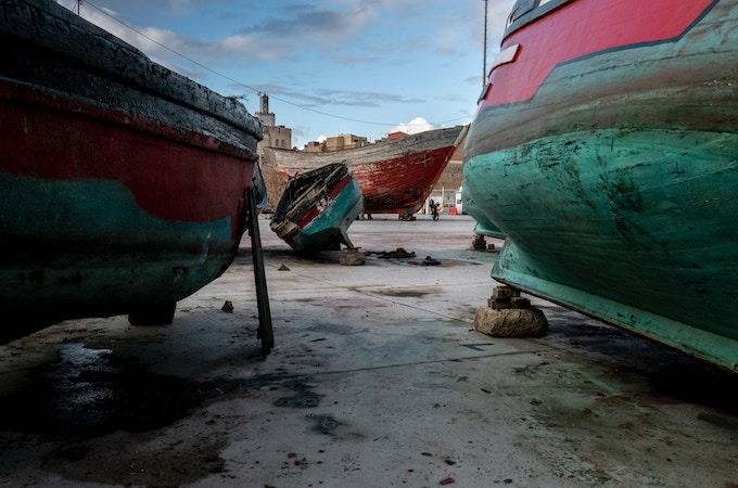 Grounded ships in Morocco