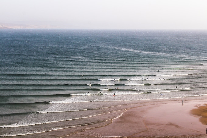 The sea in Morocco