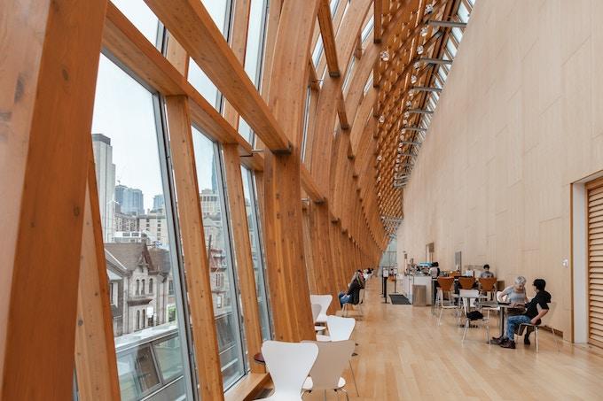 Floor-to-ceiling windows in the Art Gallery of Ontario, Toronto