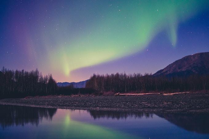 The northern lights over Alaska