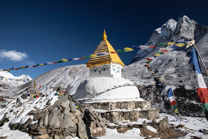 A buddhist temple in the Everest Region, Nepal