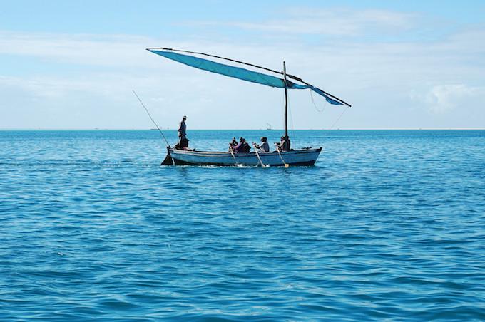 A boat in the Bazaruto Archipelago