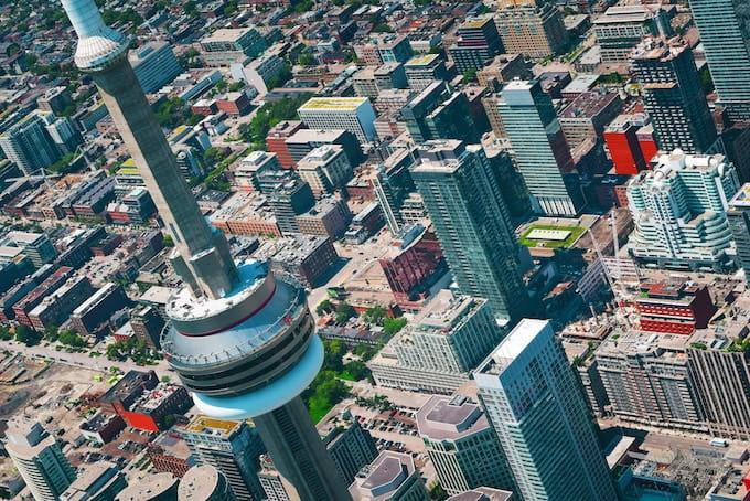 A bird's eye view of Toronto, Canada