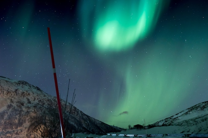The northern lights above Norway