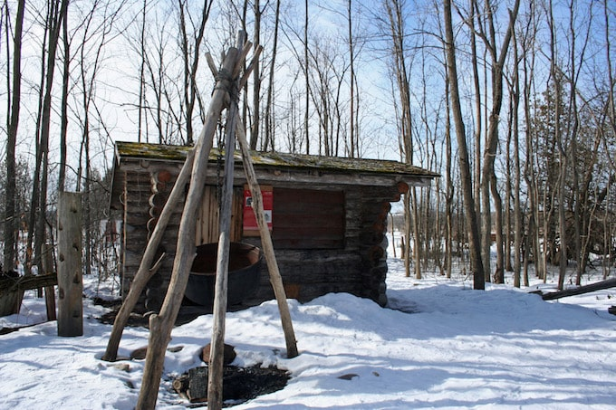 A traditional sugar shack in the wye marsh, Ontario