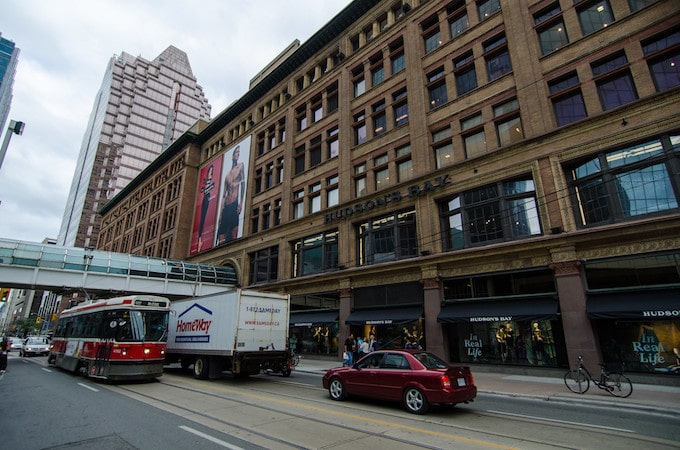 A large brown building in Toronto, Ontario