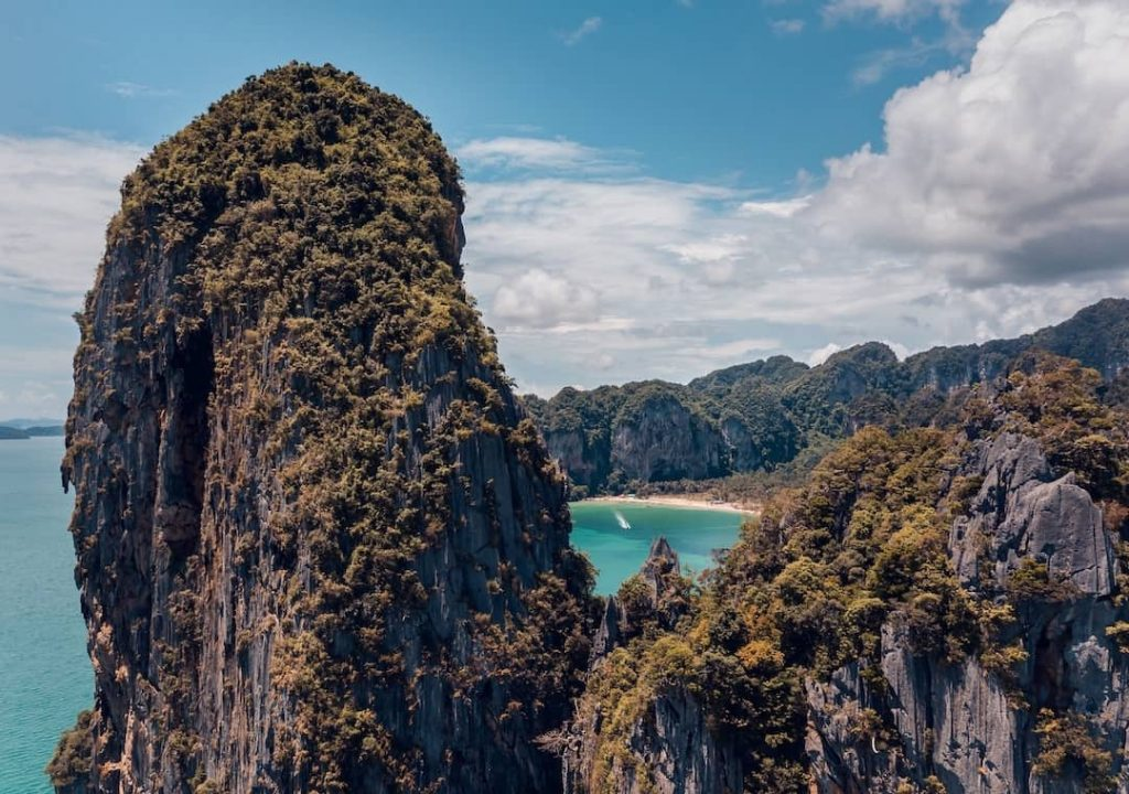 Limestone cliffs in Railay, Thailand
