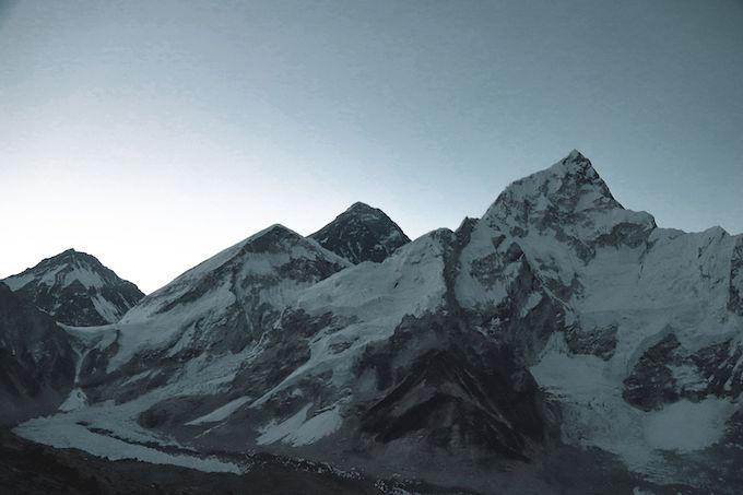 summit of everest as seen from Kala Patthar