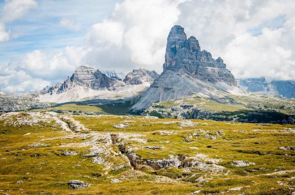 The Dolomites mountain range in northeastern Italy