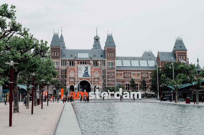 the 'I Amsterdam' sign in Amsterdam