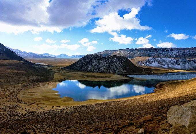 A lagoon in Huaraz, Peru