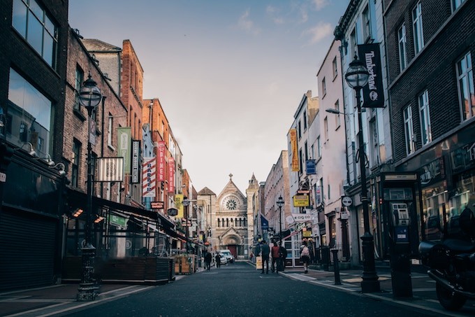 A road in Dublin, Ireland
