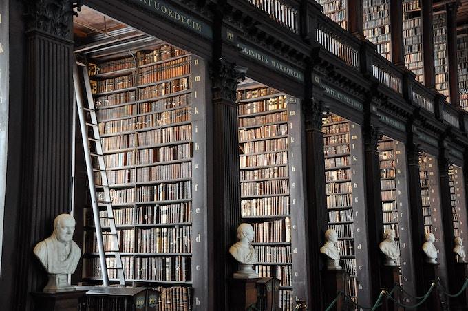 A classical library in Dublin, Ireland