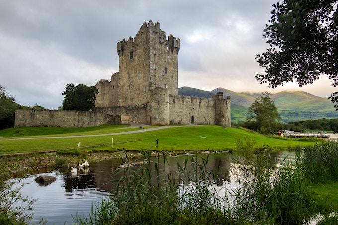A ruined castle in County Cork, Ireland