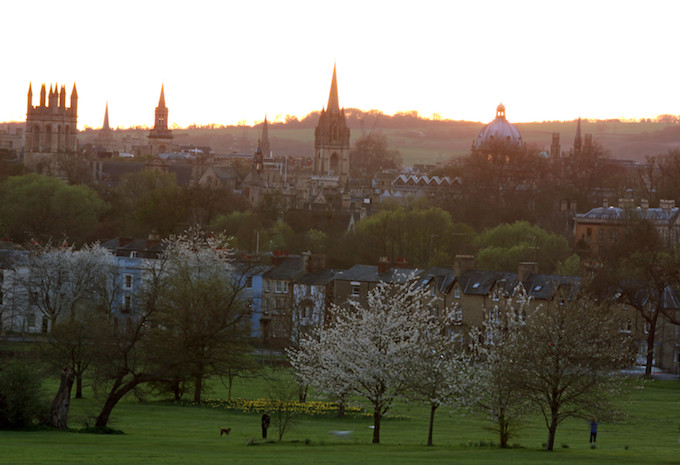 Sunset from South Park, Oxford in Winter
