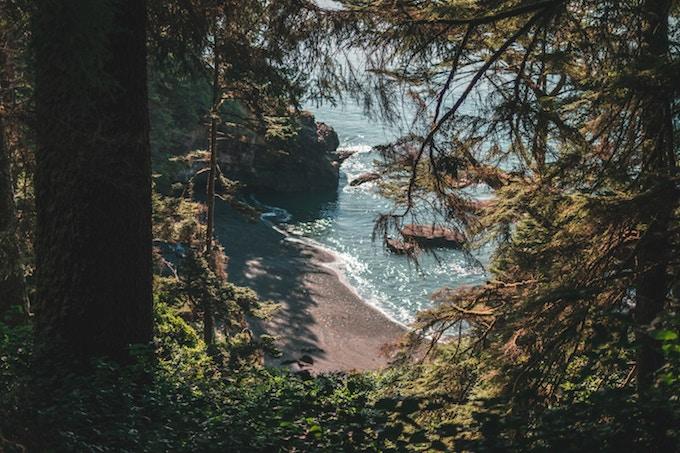 A hidden beach off the coast of Vancouver, Canada
